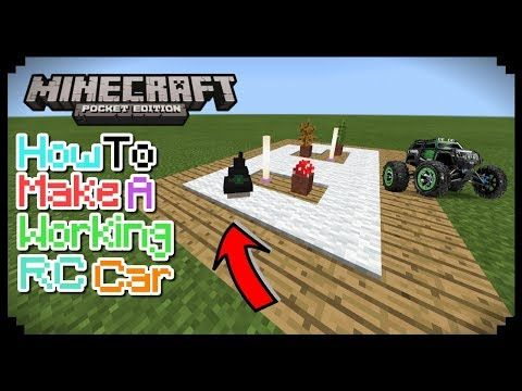 how to make a car in minecraft pe