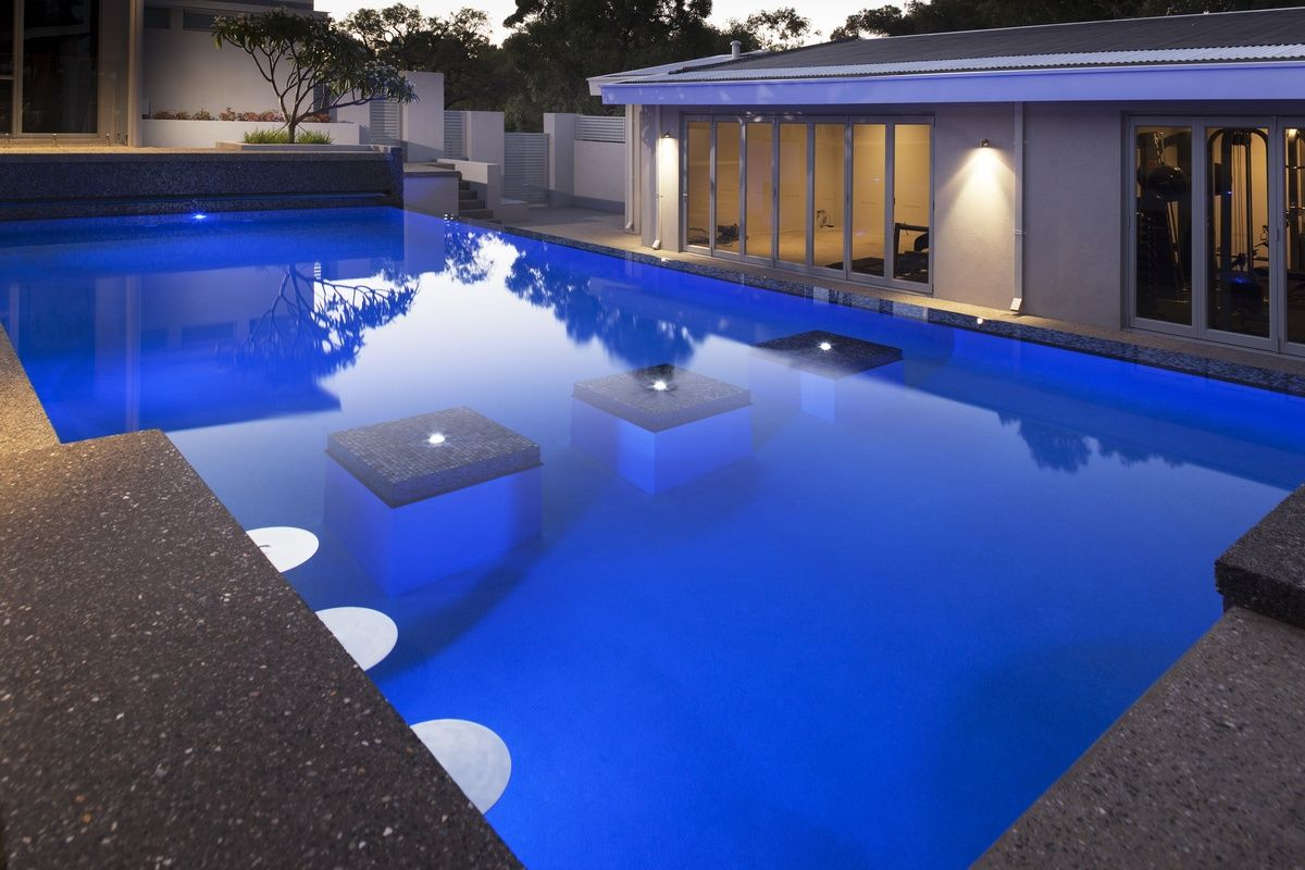 Fabulous Infinity Edge Pool With Mosaic Tiles By Pools By Design