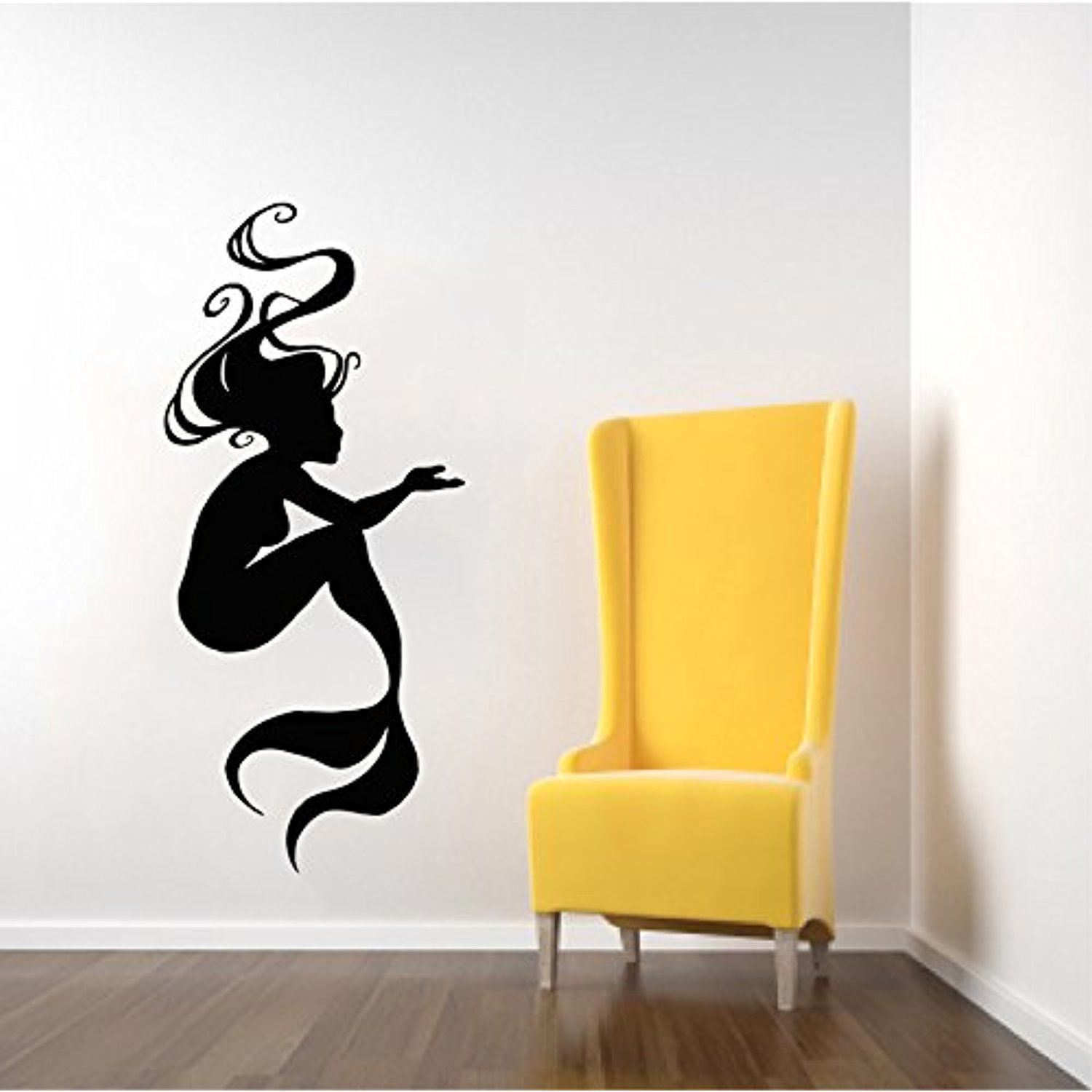 Wall Decals Mermaid Nymph Girl Tail Sea Animal Hair Beauty Water ...