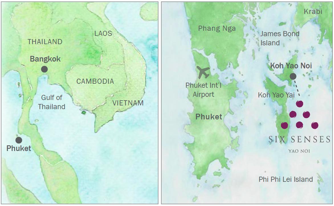 Six Senses Resort, Yao Noi - map