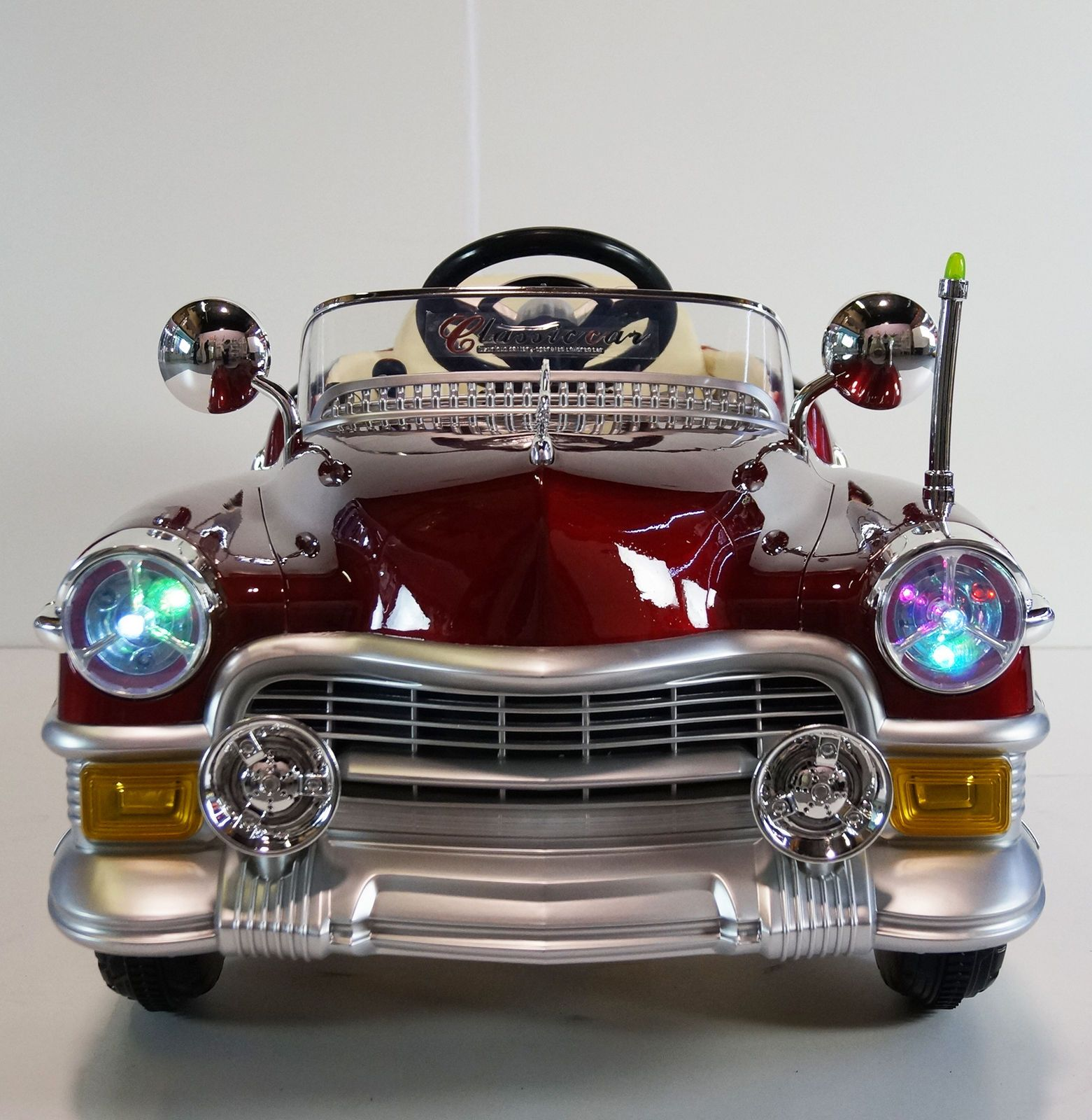 Classic cadillac style ride on toy car 12volts battery operated ...