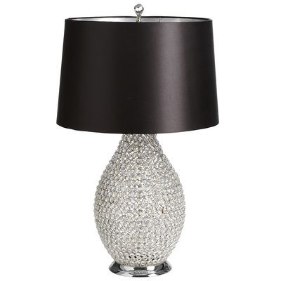 Black Crystal Bead Table Lamp Crystal Lamp Beaded Lamps