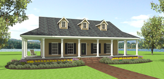Plan 23064 3 bedroom 2 bath house plan without garage farmhouse style 1 story houseplansplus com
