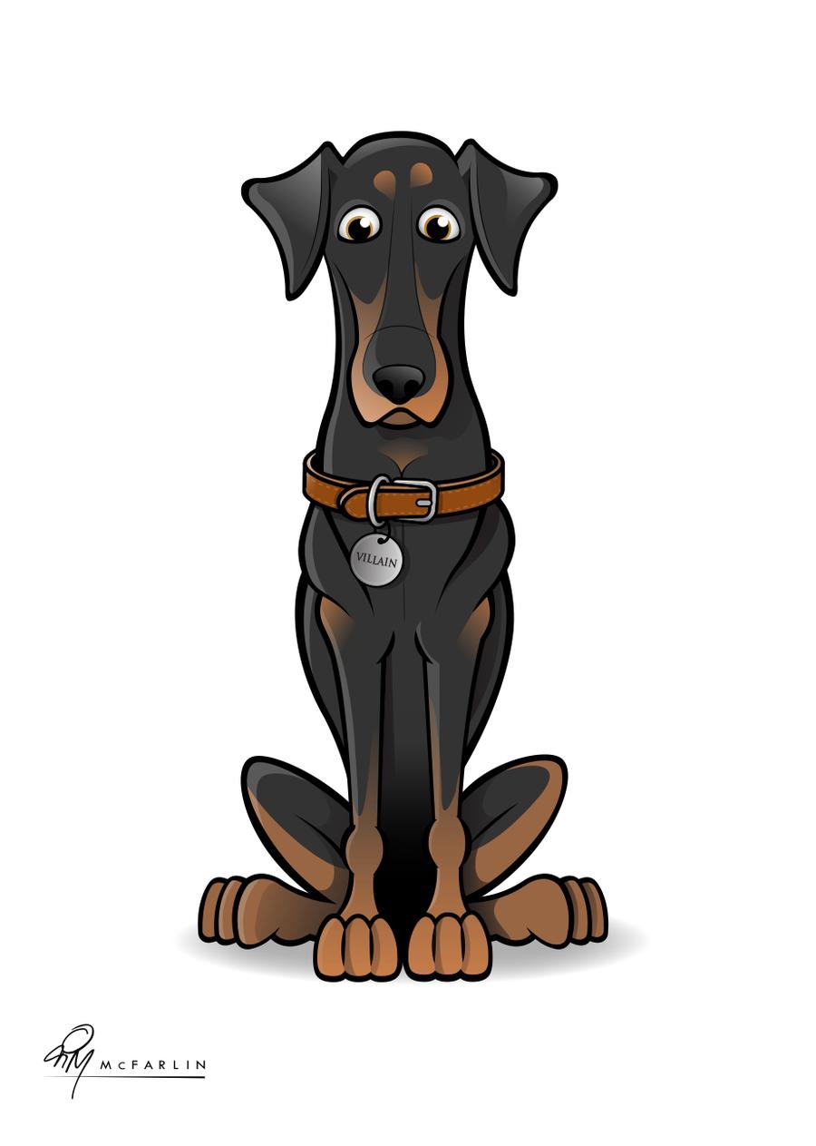 doberman cartoon 2 by timmcfarlin on deviantart animals