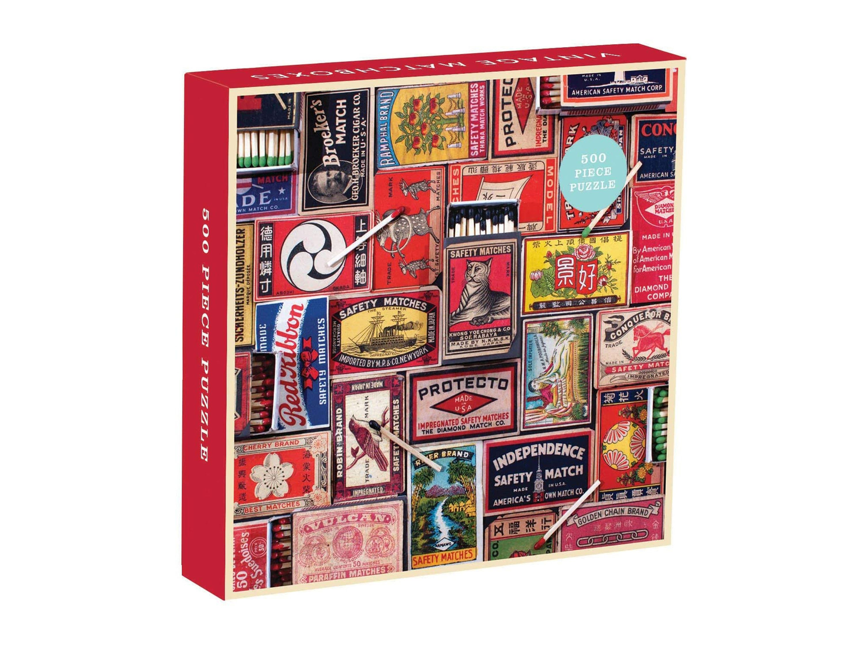 Vintage Matchboxes 500 Piece Puzzle Brand New In 2020 500 Piece Puzzles Puzzle Pieces Matchbox