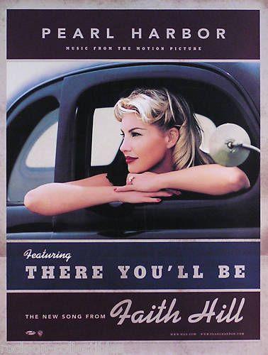 Faith Hill There You Ll Be Faith Hill Pearl Harbor There You Ll Be Promo Poster Ebay Faith Hill Tim Mcgraw Faith Hill Tim And Faith
