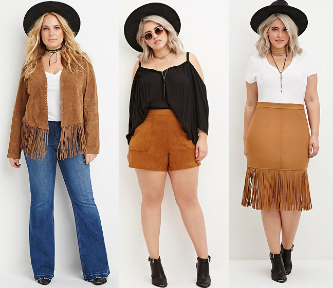 d5421346e8 Shapely Chic Sheri - Curvy Fashion and Style Blog  Trend to Try -  70s  Suede (Plus Size Options)