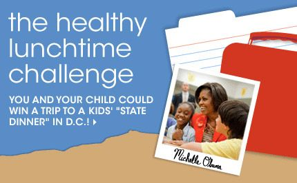 """Epicurious and the White House team up for the Healthy Lunchtime Challenge and Kids' """"State Dinner"""""""