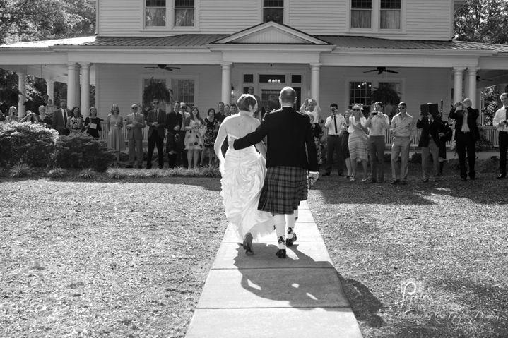 Scottish Wedding  copyright 2012 Pixels On Paper.  http://www.pixelsonpaper.biz #bride #weddingphotography #wedding  #huntersvilleNC #ransonhouse #pixelsonpaper #kilt #groom