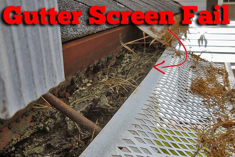 Https Innovativehomeconcepts Com Wp Content Uploads 2015 02 Bad Home Depot Gutter Screen 1 Png Gutter Screens Gutter Garden Tools