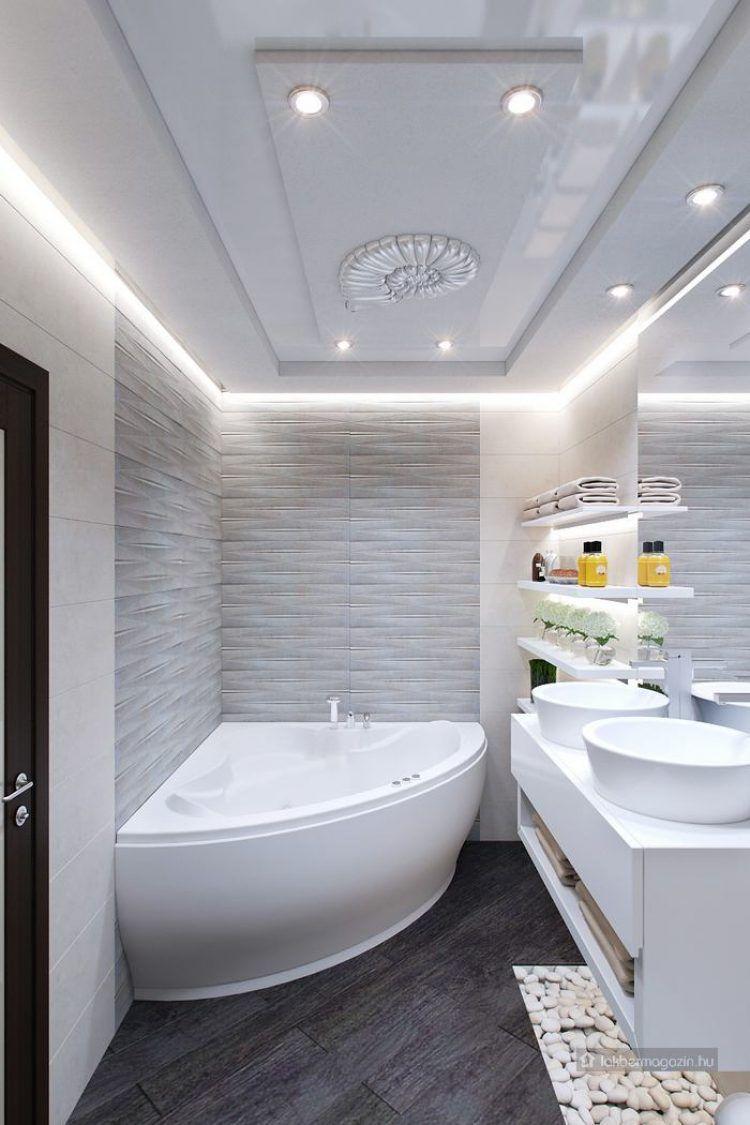 tiszta, világos, spa hangulatot árasztó kis fürdő - letisztult ...