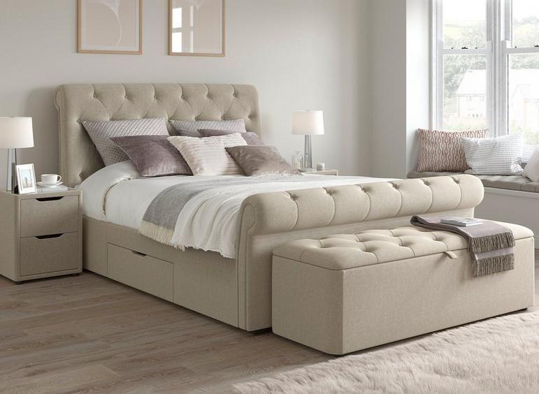 Langford Upholstered Bed Frame Beds New Arrivals Beds Dreams