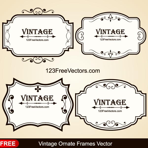 Vintage Ornate Frames Vector Vintage Banner Ornate Frame Vector Free