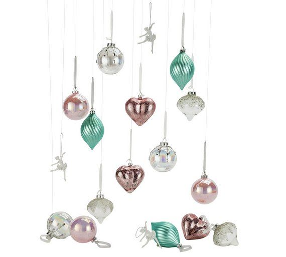 Buy Heart Of House 18 Piece Christmas Decoration Pack  Enchanted At  Argos.co.
