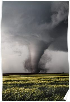 Tornado On The Ground Poster.....   I am a nature lover.  I am not posting this because I love tornados.  Nature and weather just fascinates me.