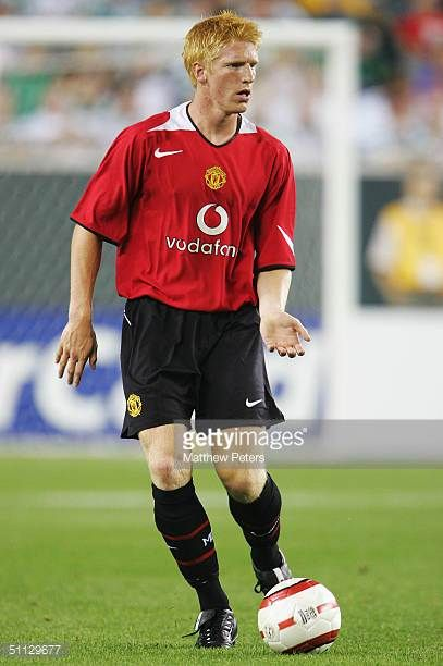 Paul Mcshane Of Manchester United In Action During The Champions World Series Preseason Friendly Match Against Celtic At Manchester United Manchester The Unit