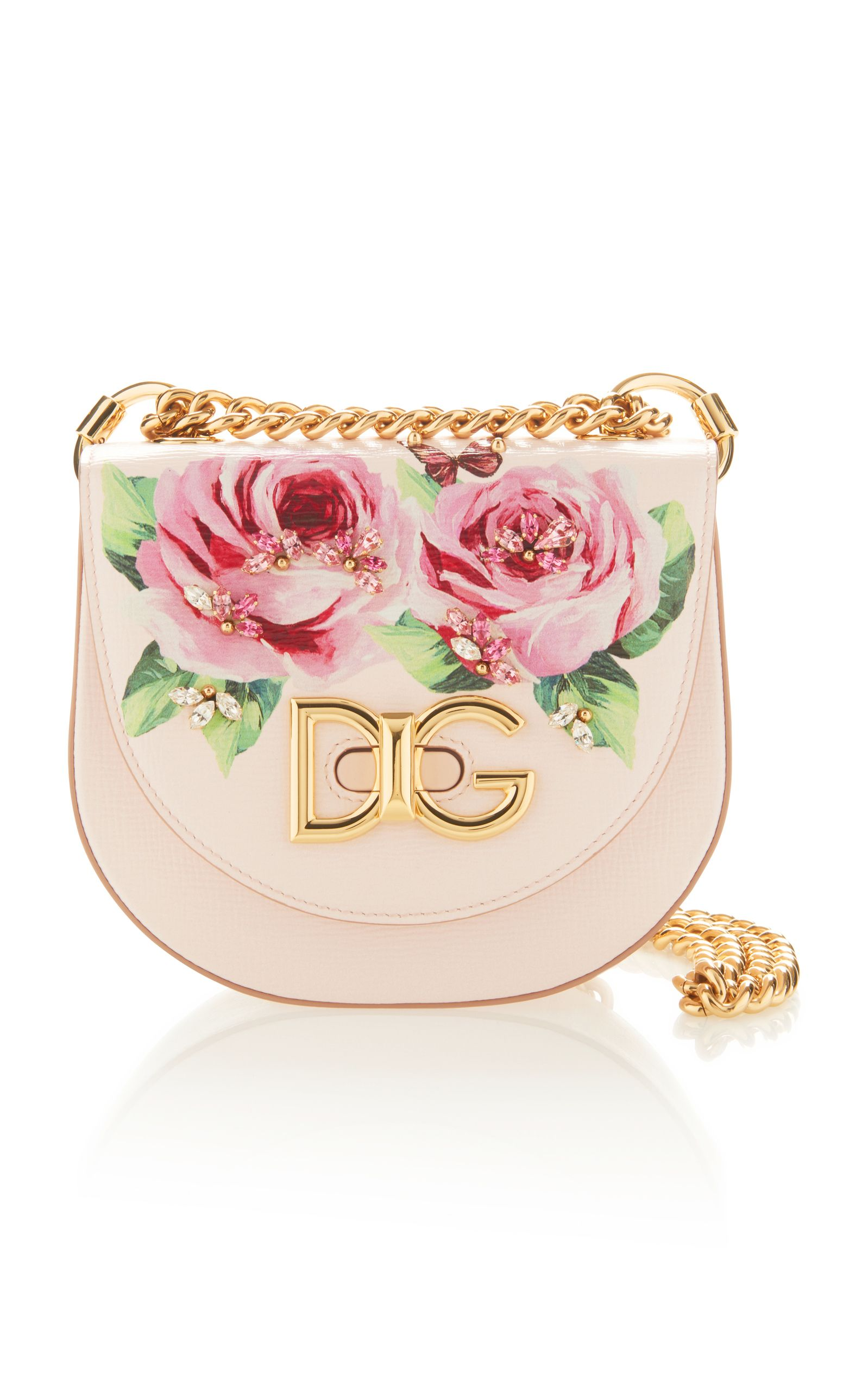 cc0cf62687 Rose Printed Mini Leather Bag by DOLCE   GABBANA Now Available on Moda  Operandi