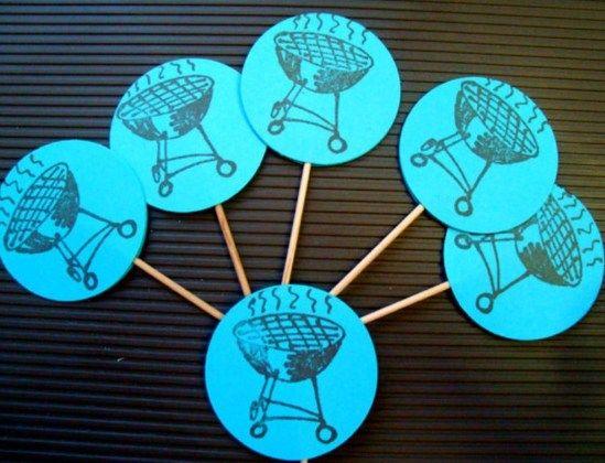 witzige tischdeko ideen f r die grillparty tischdeko grillen pinterest tischdeko ideen. Black Bedroom Furniture Sets. Home Design Ideas