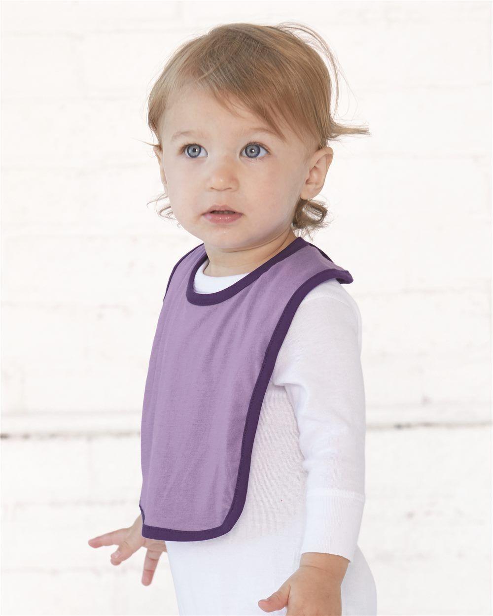 Rabbit Skins - Infant Contrast Trim Premium Jersey Bib - 1004 | Clothing Shop Online | Rabbit Skins - Infant Contrast Trim Premium Jersey Bib - 1004 - Pink/ Red - One Size