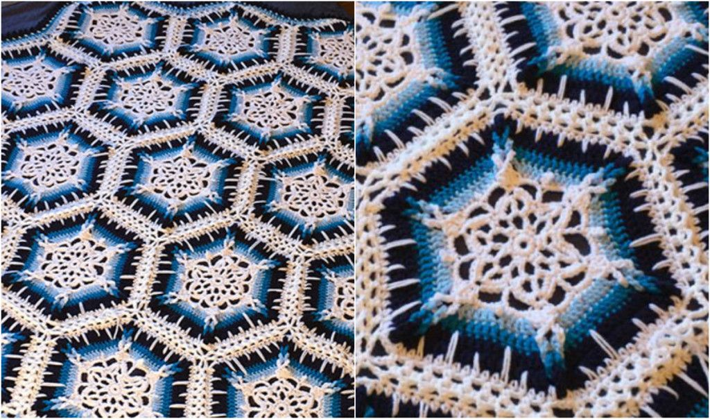 Winter Blizzard Snowflake Crochet Afghan: free pattern + video ...