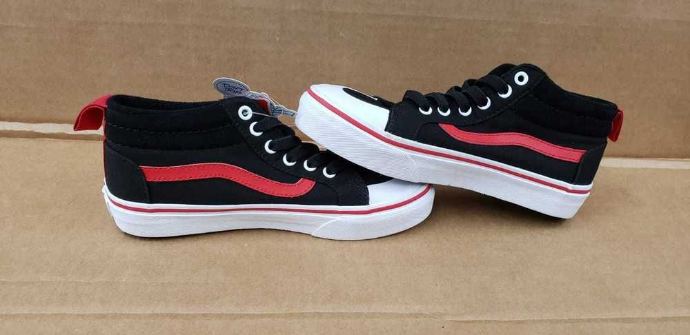 low priced f5984 29840 VANS RACER MID POP VN0A38HFORC BLACK RACING RED ATHLETIC SHOES KIDS US 2.5  NWOB  fashion
