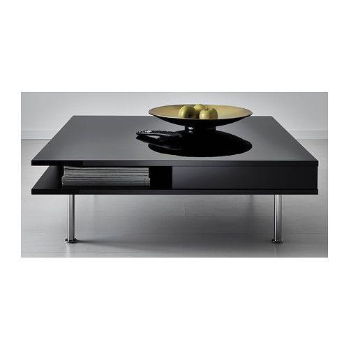 Coffee Table High Gloss Black 37 3 8x37 3 8 Coffee Table