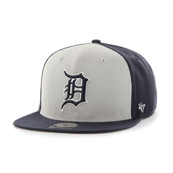 e7e458a1c Detroit Tigers Sure Shot Accent Captain Navy 47 Brand Adjustable Hat ...