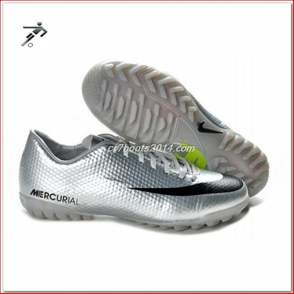 9df33acc2 Light Up Soccer Cleats Nike Mercurial Victory IV Cr7 Mens Astro Turf  Trainers Futsal Silver