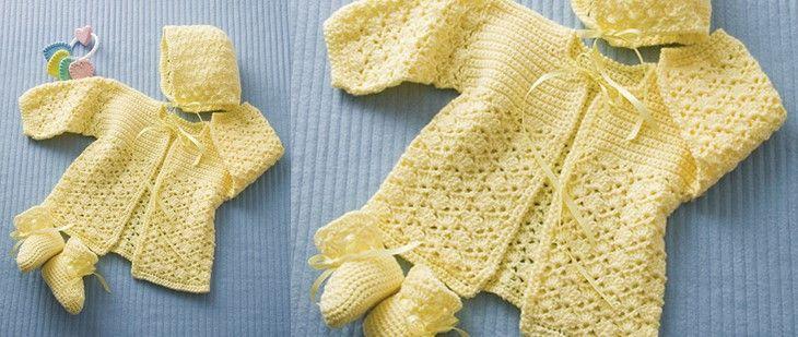 Lemon Drops Crocheted Baby Set [FREE Crochet Pattern]
