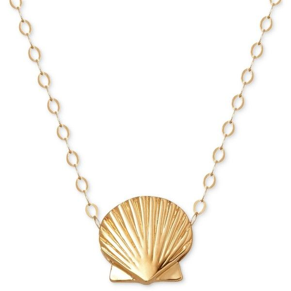 Seashell pendant necklace in 10k gold 159 liked on polyvore seashell pendant necklace in 10k gold 159 liked on polyvore featuring jewelry aloadofball Gallery