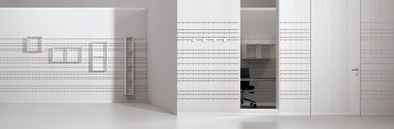 """""""HOOK"""" - Partition system for METHIS, Italy                                    404 Not Found arquitectos design and industrialization manager for Jean Nouvel Design - 2K11"""