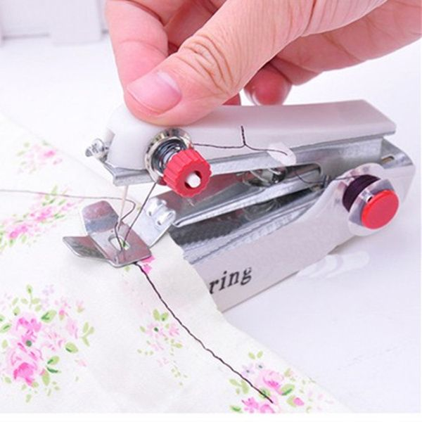 Home Mini Manual Sewing Machine Portable Small Pocket Needlework Delectable Small Sewing Machines