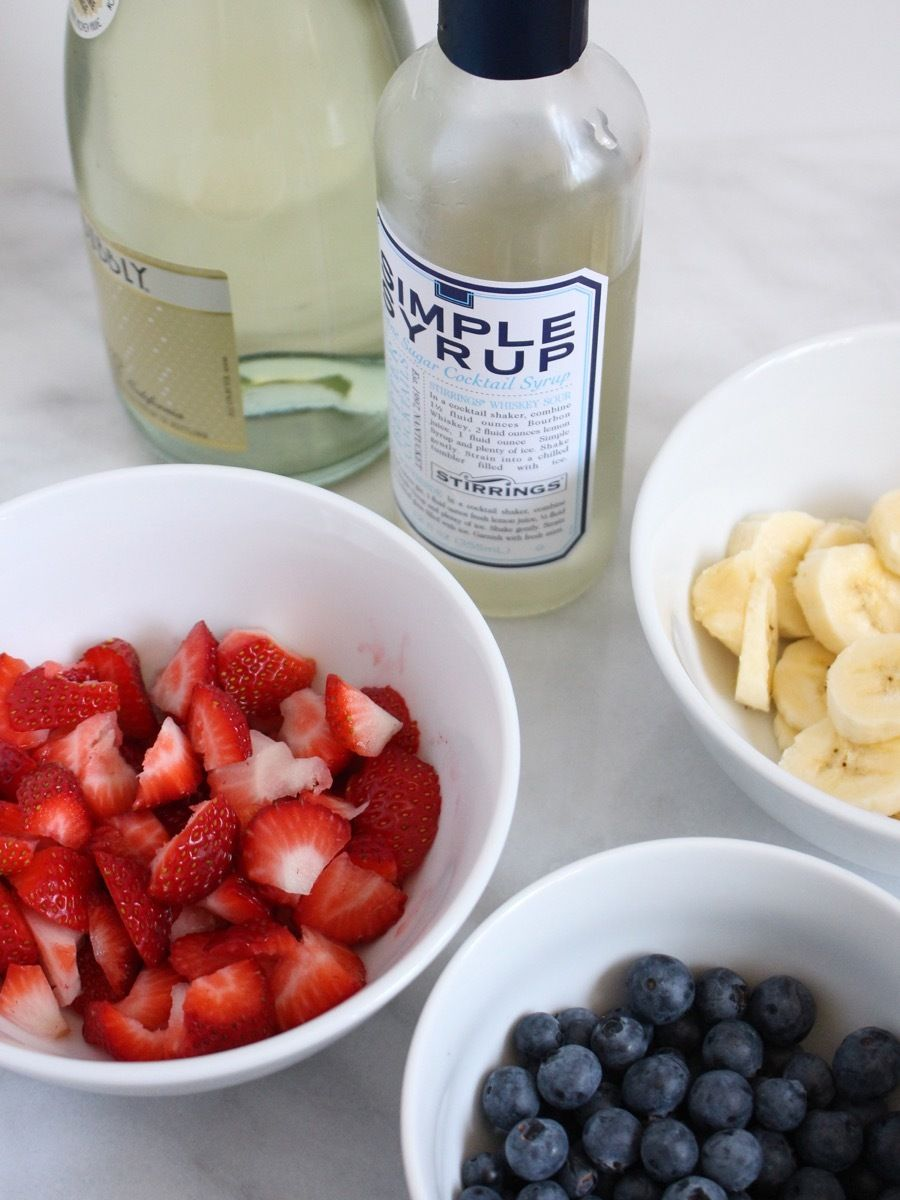 DIY 4th of July Popsicles, Two Ways: One for Kids and One for Adults! #champagnepopsicles