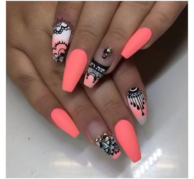 Pinterest Gigi8869 Follow For More Sickening Pins Neon Nail Designs Neon Nails Gorgeous Nails