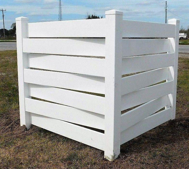 White Basketweave PVC Fence Corner Privacy Driveway