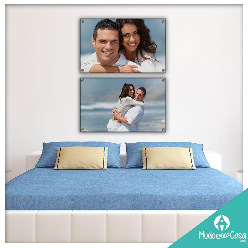 Use suas fotos preferidas na decoração de seu quarto. Neste acrílico então fica show!