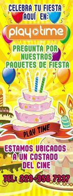 Celebra tu fiesta en... ¡PLAY TIME!