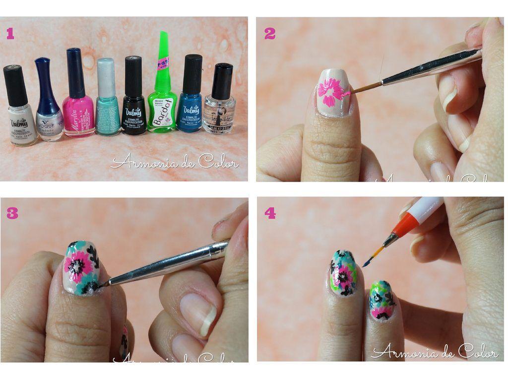 Diseño de uñas flores de verano | uñas | Pinterest | Diseños de uñas ...
