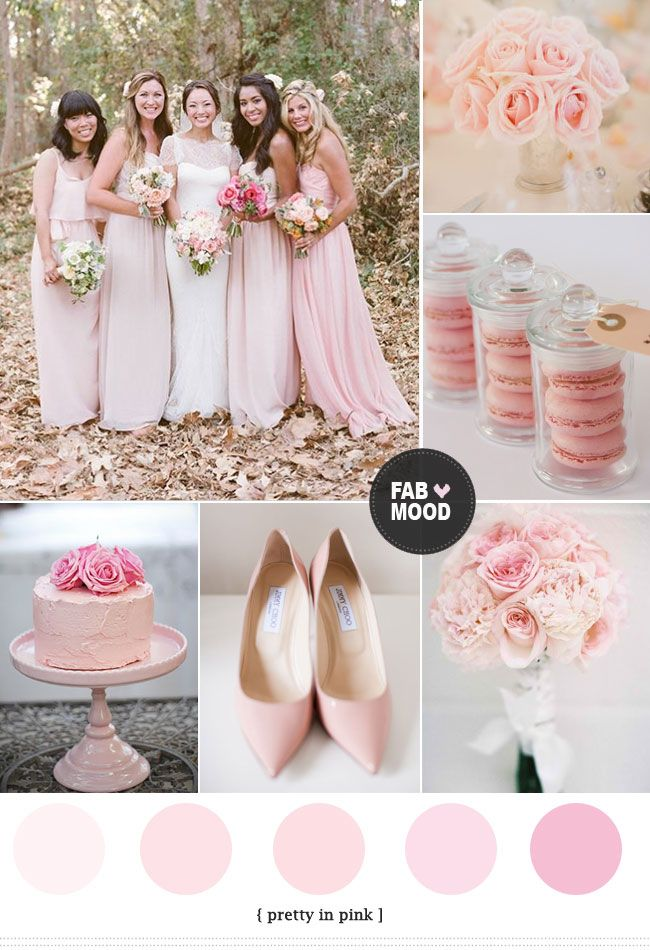 Pink wedding color schemes pink wedding colors wedding for Best wedding colour themes