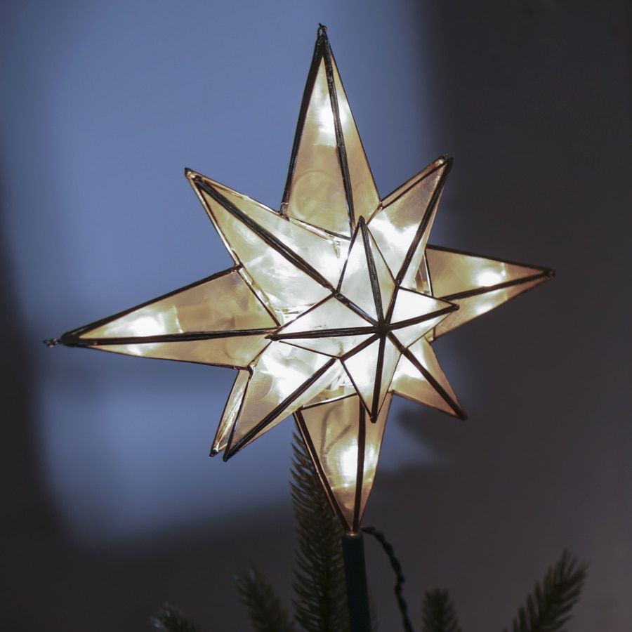 GE 10-in Star Off-White Christmas Tree Topper Lowes.com ...