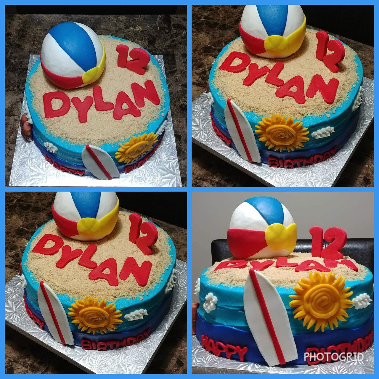 Beach Ball Surfs Up Cake (With images) | Cake