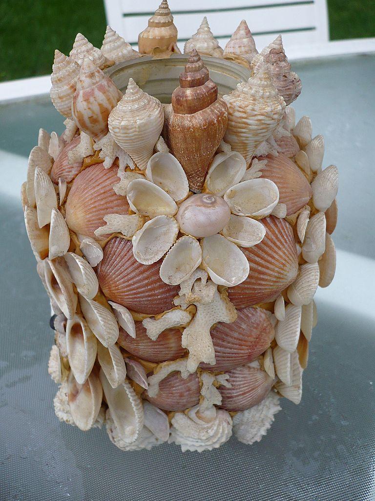 Vintage folk art sea shell vase shell art pinterest folk art vintage folk art sea shell vase reviewsmspy