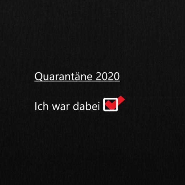 Quarantäne Community | Stoffbeutel Community 2020