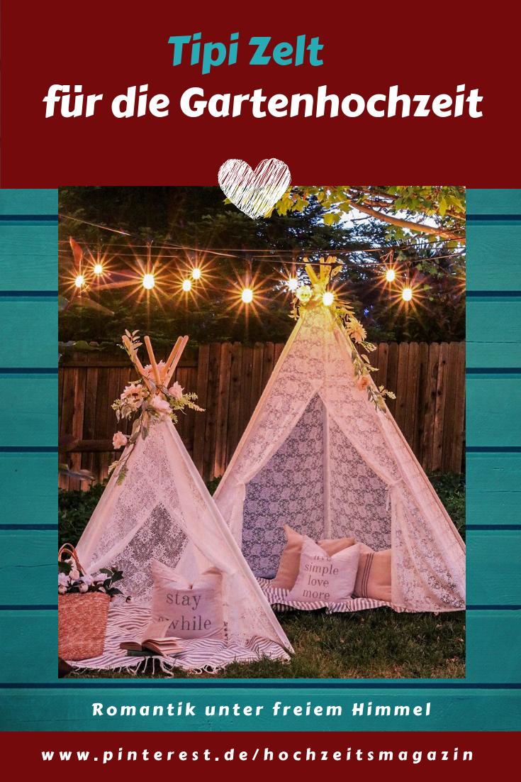 Tipi Zelt für eine Sommerhochzeit im Freien, 5 seitiges