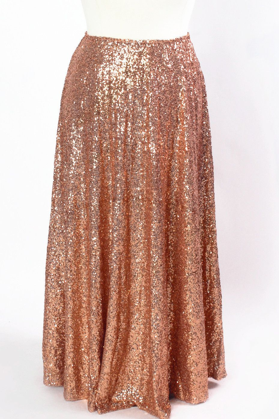 e5b213fecef Plus Size Clothing for Women - Showstopper Sequin Maxi Skirt - Rose Gold -  Society+ - Society Plus - Buy Online Now! - 2