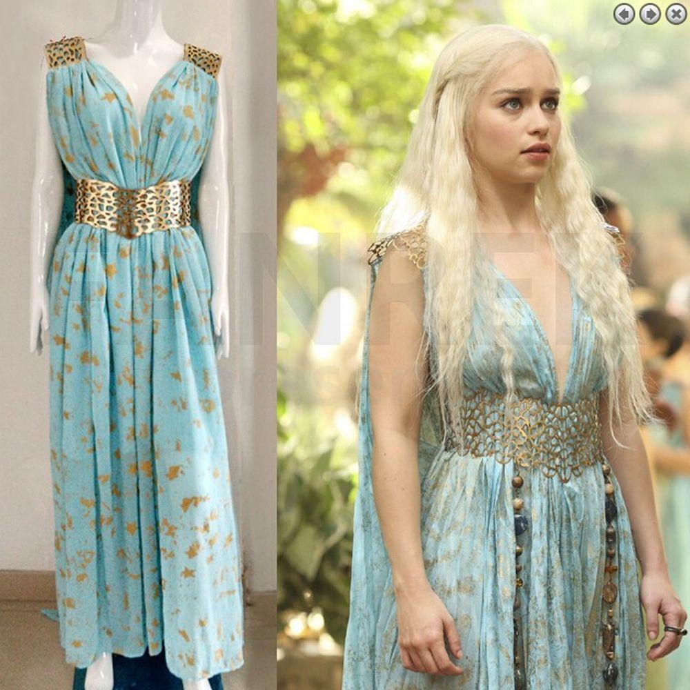 Halloween Game Of Thrones Daenerys Targaryen Qarth Dress Party Cosplay Costume