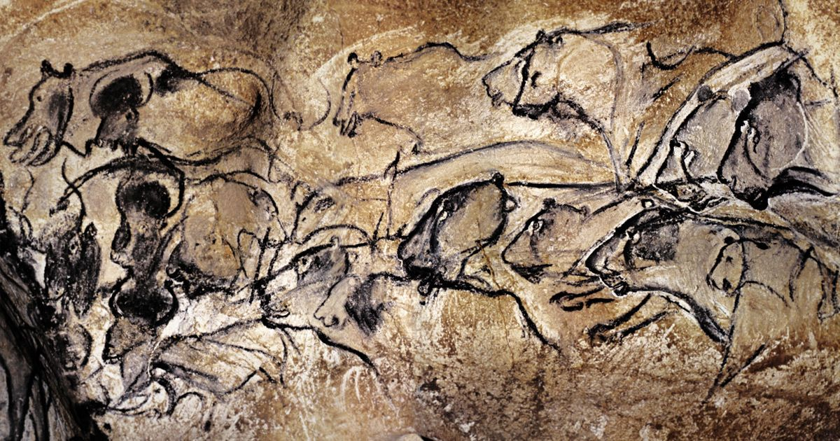 Old Stones Chauvet Cave Located In Southern France Is A