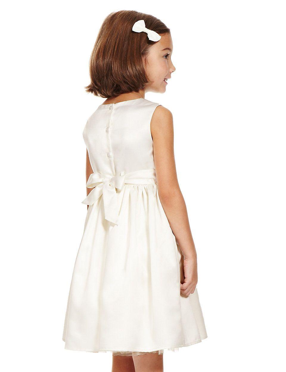 Sequin embellished belted bridesmaid dress ms flower girl flower girl dresses ombrellifo Gallery