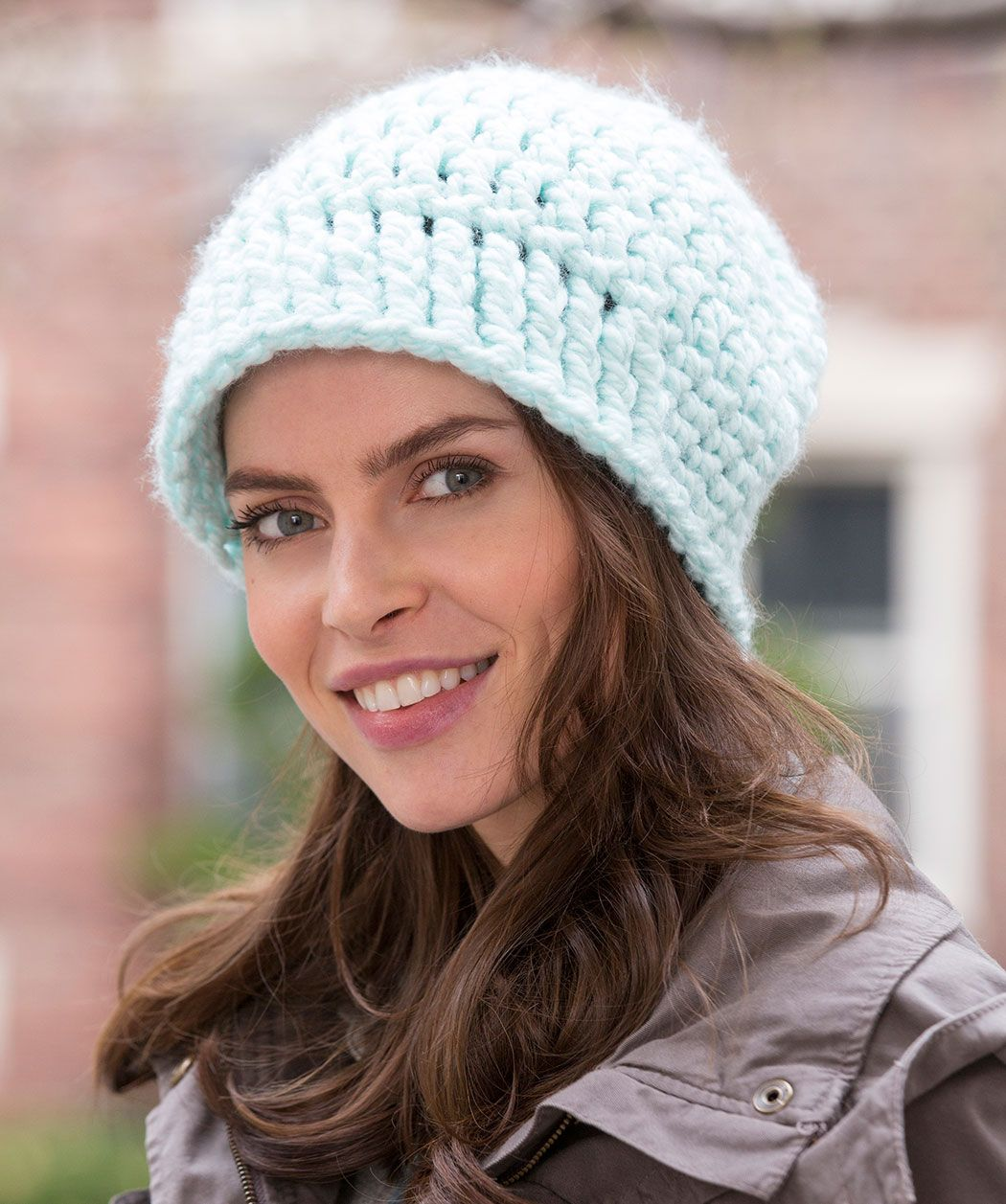 Bulky yarn crochets up quickly into a slouchy newsboy hat. The post ...