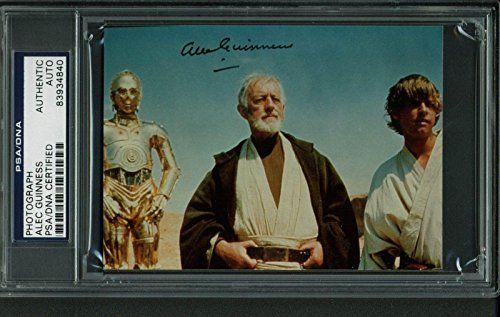 Alec Guinness Star Wars Signed 3.5X4 7/8 Photo Slabbed - Psa/Dna Certi